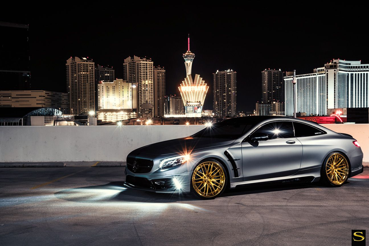 Matte silver mercedes benz s550 with blacked out emblems for Black mercedes benz rims