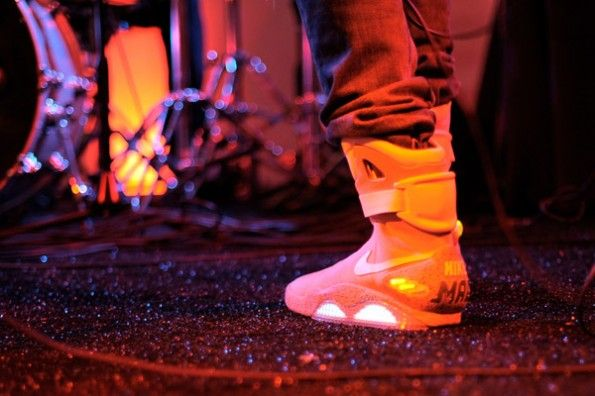 """The """"Back to the Future"""" Nikes, Rocked by Kid Cudi."""