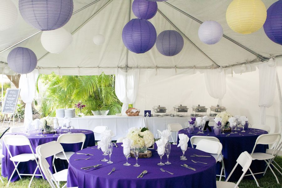 Google Image Result For Http Images Lover Ly 71 0c9016b5114033f5 Jpg Purple White Wedding White Table Settings Tent Decorations