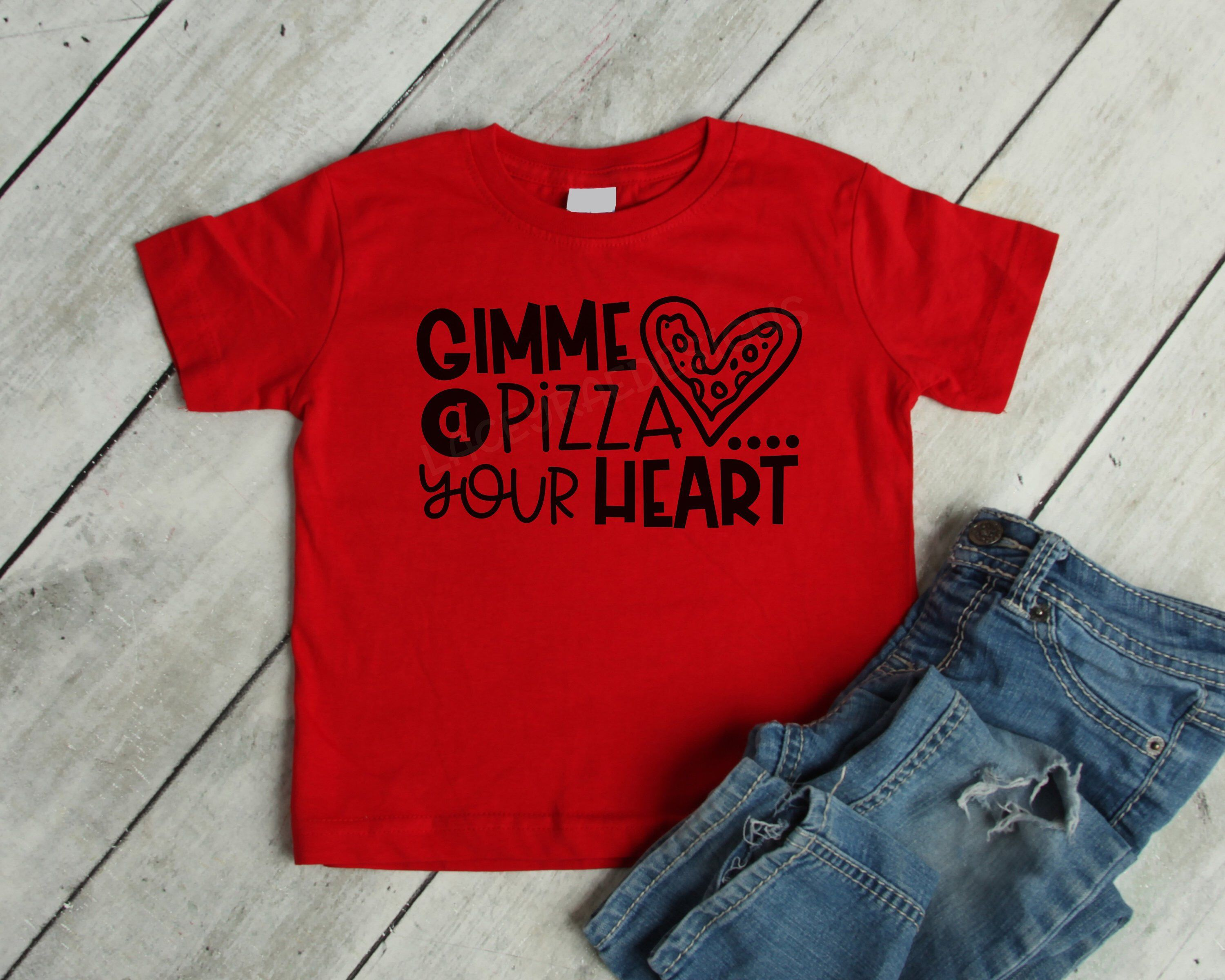 11be275f Gimme a Pizza your Heart Valentines Day Toddler Little boy or girl shirt,  Kids or youth Funny Valetines Tee, Valentines Day, Love Day, Heart