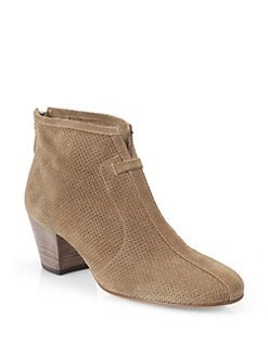 Aquatalia Suede Perforated Ankle Boots discount cost clearance store for sale 2014 unisex for sale KE11zNB0Zo