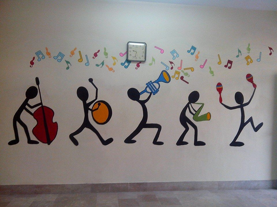 Classroom Painting Ideas : Music room wall paint by yasmeen rasheed foundation