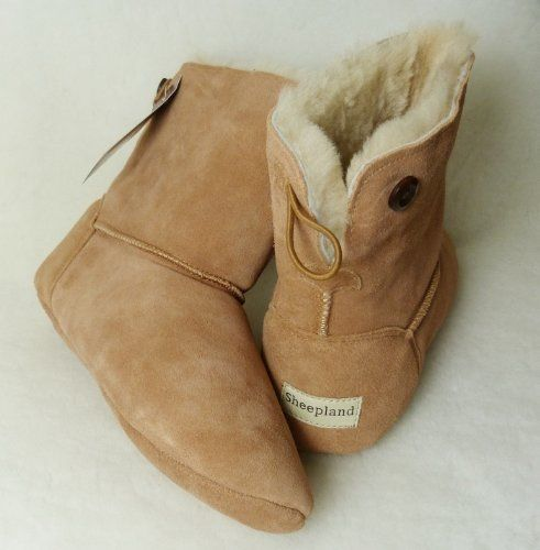 69a6f4d2f595 Was given these incredible slippers for Christmas... beautiful and so  comfortable and warm. Luxury Sheepland Sheepskin Indoor Slipper Boots   Amazon.co.uk  ...