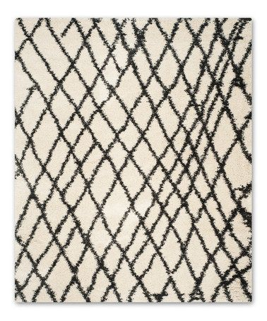 Loving this Charcoal & Ivory Olivia Shag Rug on #zulily! #zulilyfinds