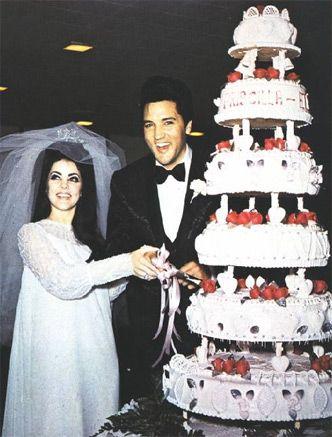 Elvis and Priscilla's Wedding Cake.