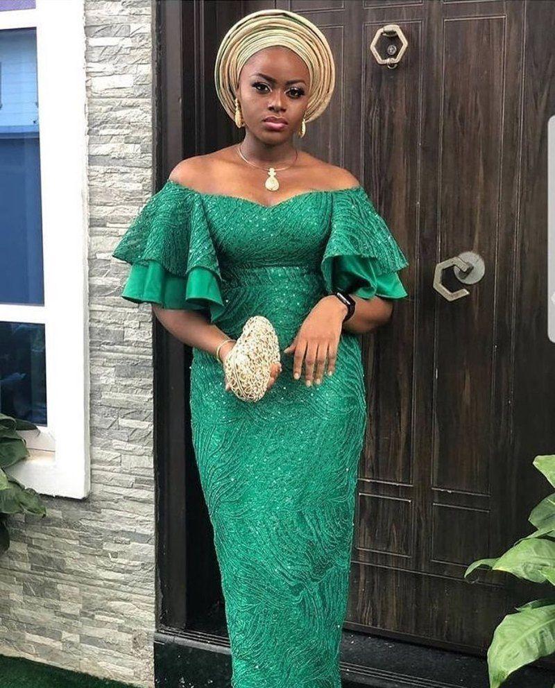 60 Latest Aso Ebi Styles For 2020 Updated Weekly Thrivenaija Nigerian Dress Styles Lace Dress Styles African Attire