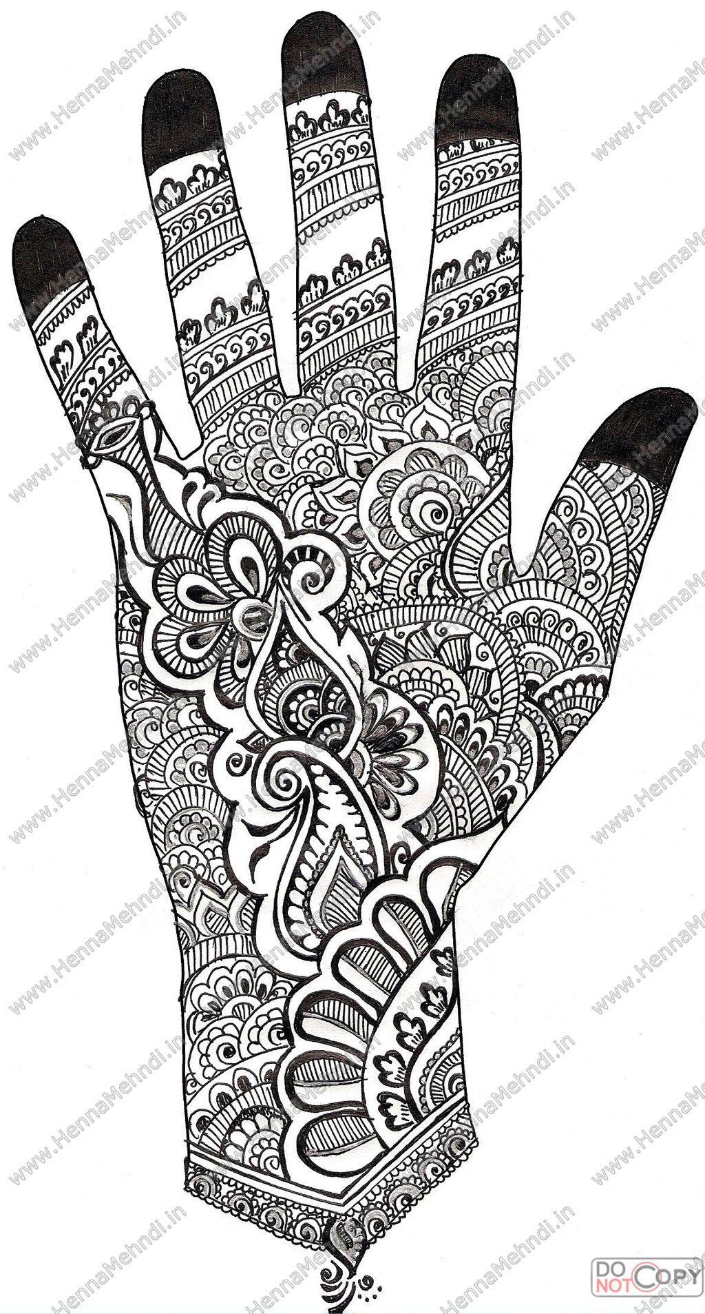 Coloring pages of mehndi hand pattern - Henna Mehndi Designs 4 By Hinasabreen On Deviantart