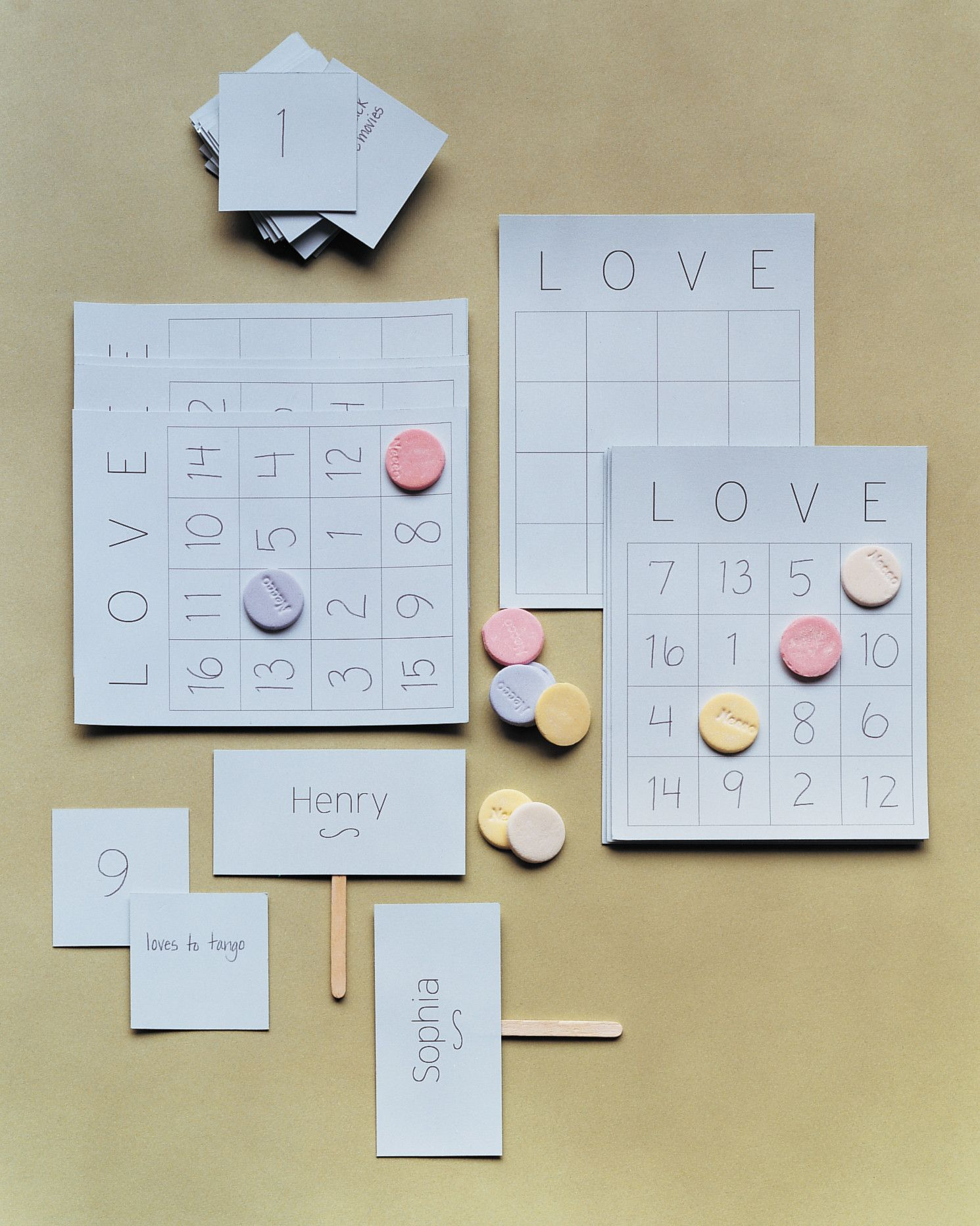 c72ca21831b5 Learn more about the bride and the groom by playing a round (or two) of our bridal  shower love bingo. Your maid of honor will read out statements about the ...