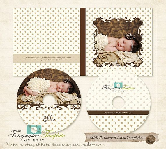 CD DVD Label And Cover Templates Photoshop Template For Photographers