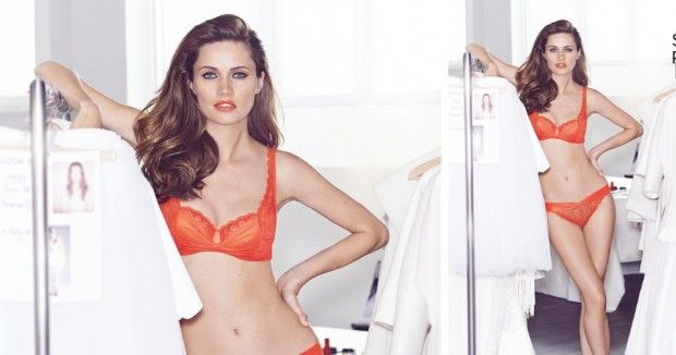 Odyssey Boutique Lingerie, Simone Perele Joy  n bright Blood Orange red this stunning Simone Perele collection in fine Calais Lace will most definitely bring Joy to all.