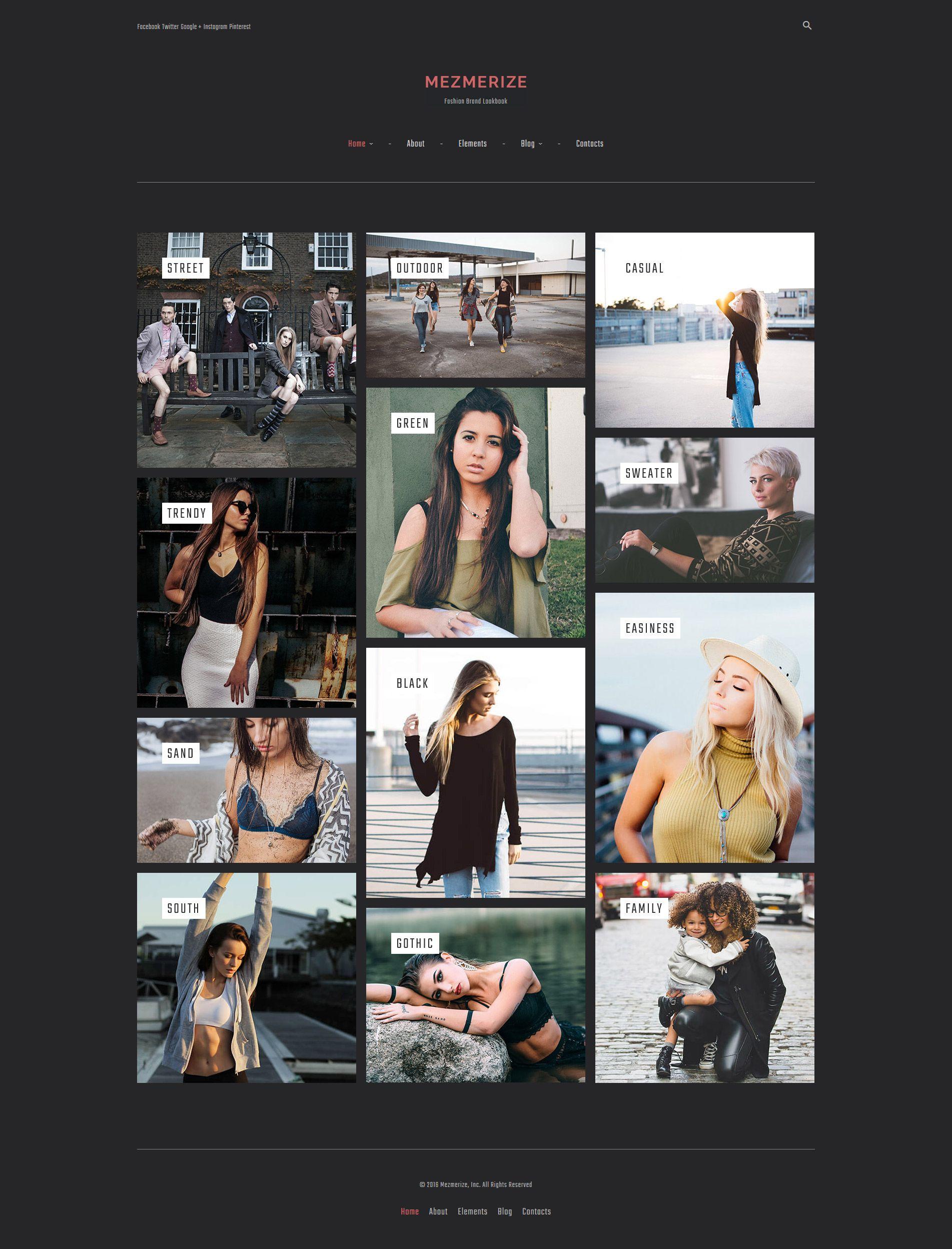 Mezmerize - Fashion Brand Lookbook WordPress Theme | Ideas