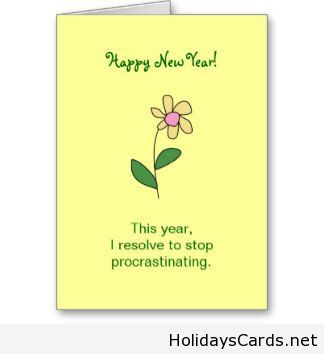 Procastinating new year card