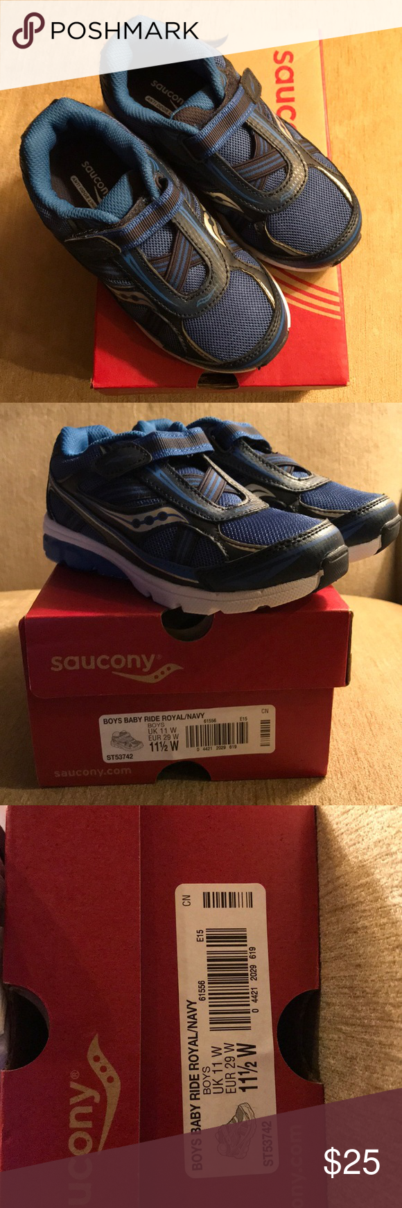 eed628872c Saucony Boys Baby Ride Wide Sneakers Brand New Saucony Boys Baby ...