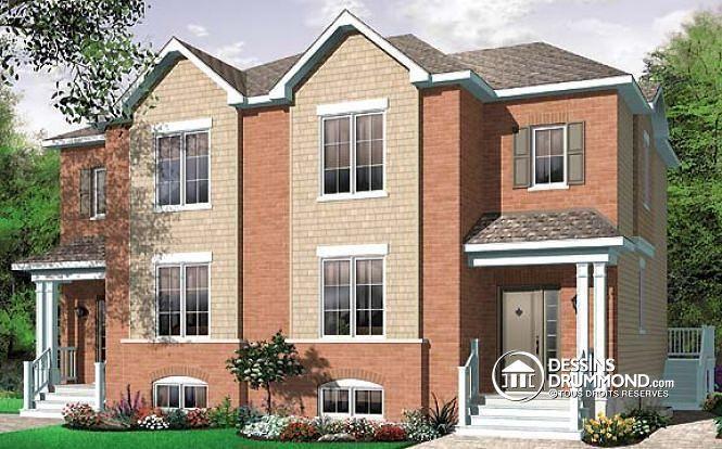 Plan de maison no W3035 de dessinsdrummond maison jumele