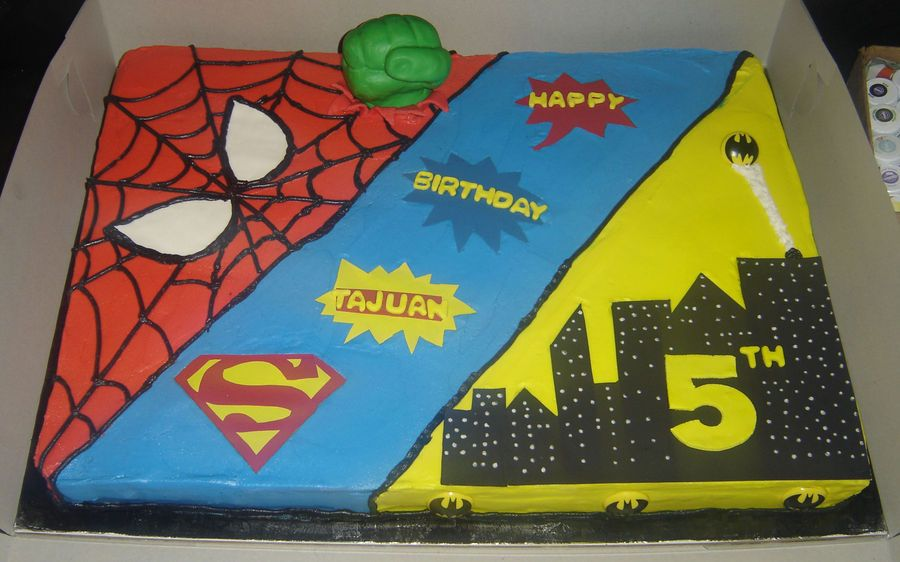 Outstanding Superhero Birthday Cake Superhero Birthday Cake Superhero Cake Personalised Birthday Cards Epsylily Jamesorg