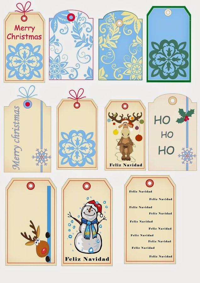 Unas etiquetas muy navideñas para poner los regalos aún más bonitos ...