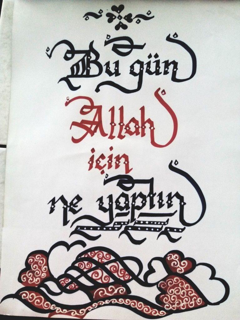 Bengisu Derya adlı kullanıcının kaligrafi panosundaki Pin