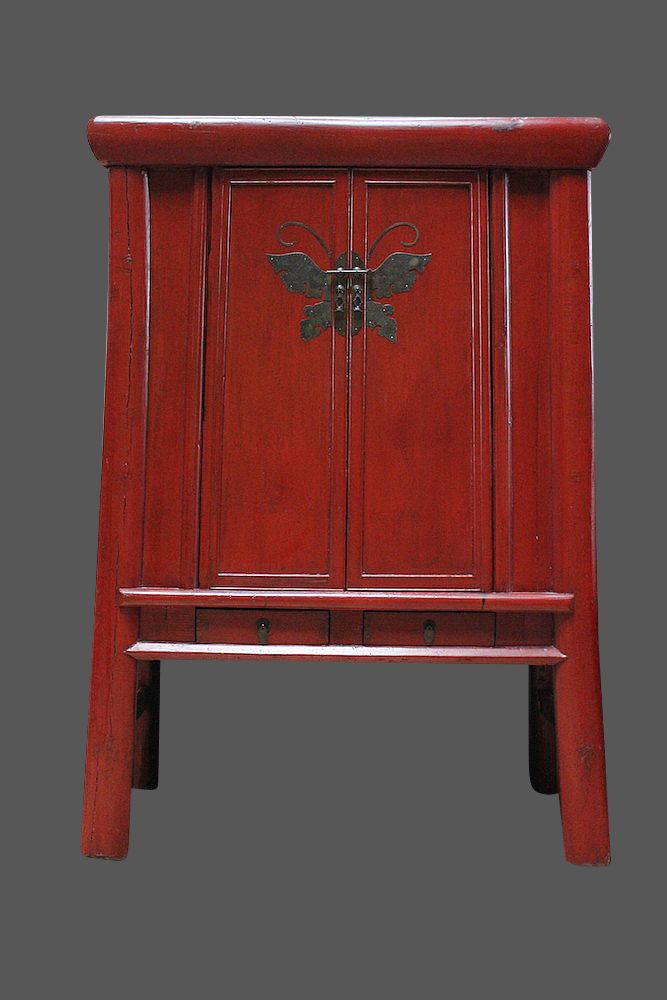 Roter Schmetterlingsschrank Aus China Chinese Wedding Cupboard In Red With Butterfly Chinesische Mobel Asiatische Mobel Schrank