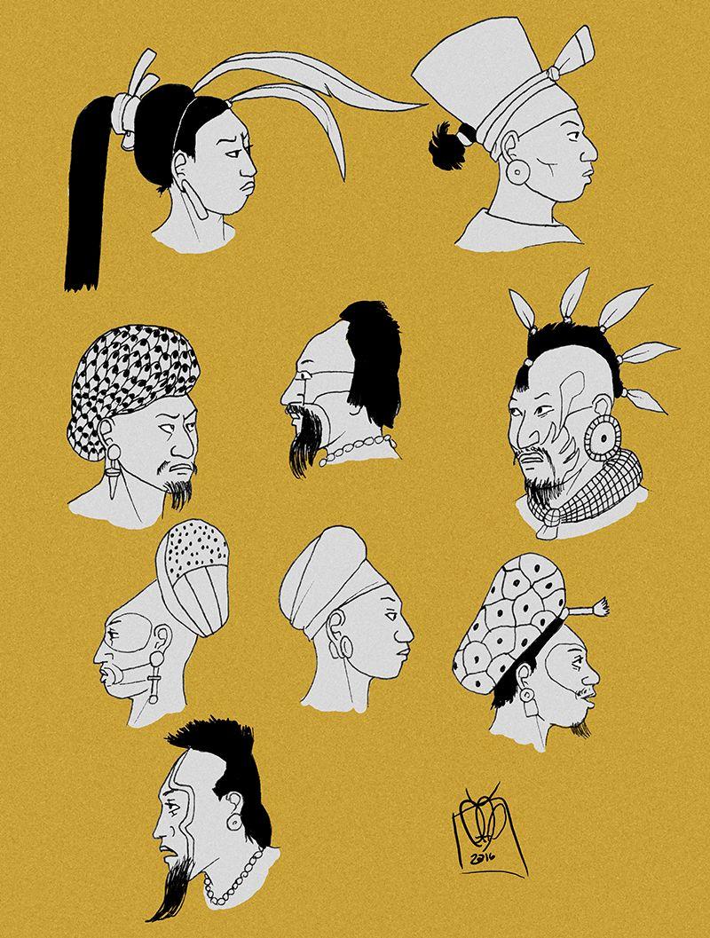 Aztec Haircut : aztec, haircut, Hairstyles, Kamazotz, Ancient, Chinese