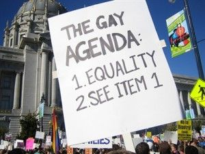 Gay agenda, I guess we have one.