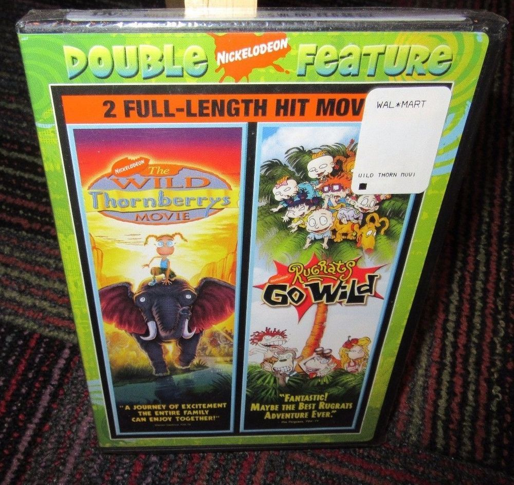 NEW RUGRATS GO WILD / THE WILD THORNBERRYS DOUBLE FEATURE