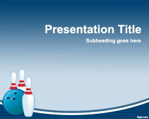 Bowling Powerpoint Template Is A Free Template For Powerpoint With