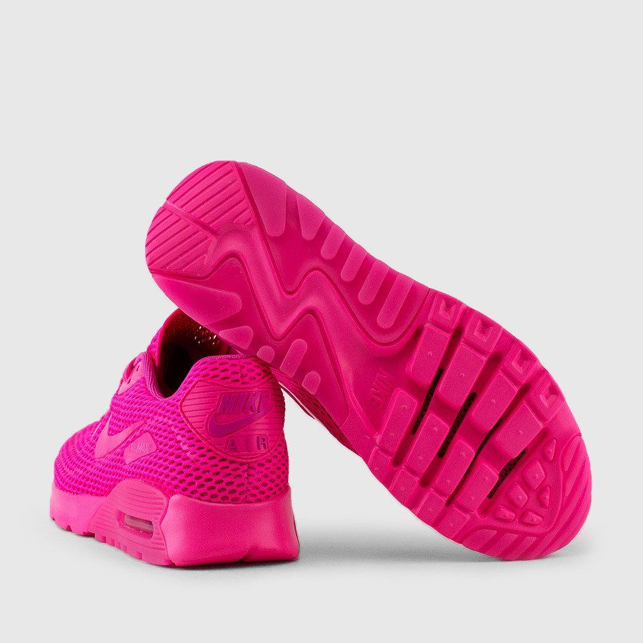 finest selection 85190 dbb8c Nike - Women s Air Max 90 Ultra Breathe (Pink Blast   Fire Pink)