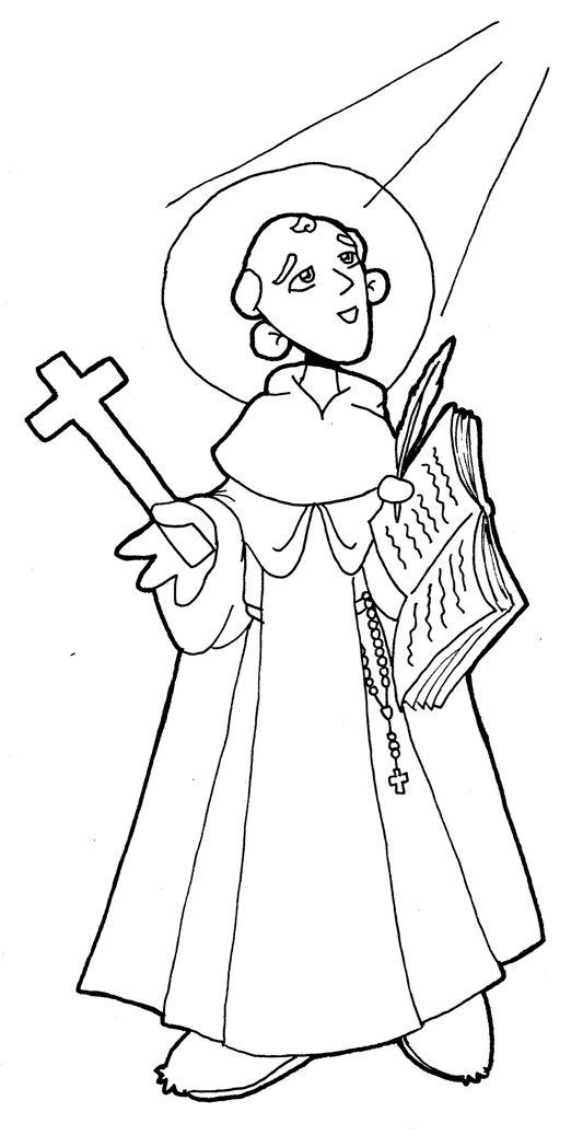 SAN JUAN DE LA CRUZ para pintar. | i love jesus | Pinterest | Santos