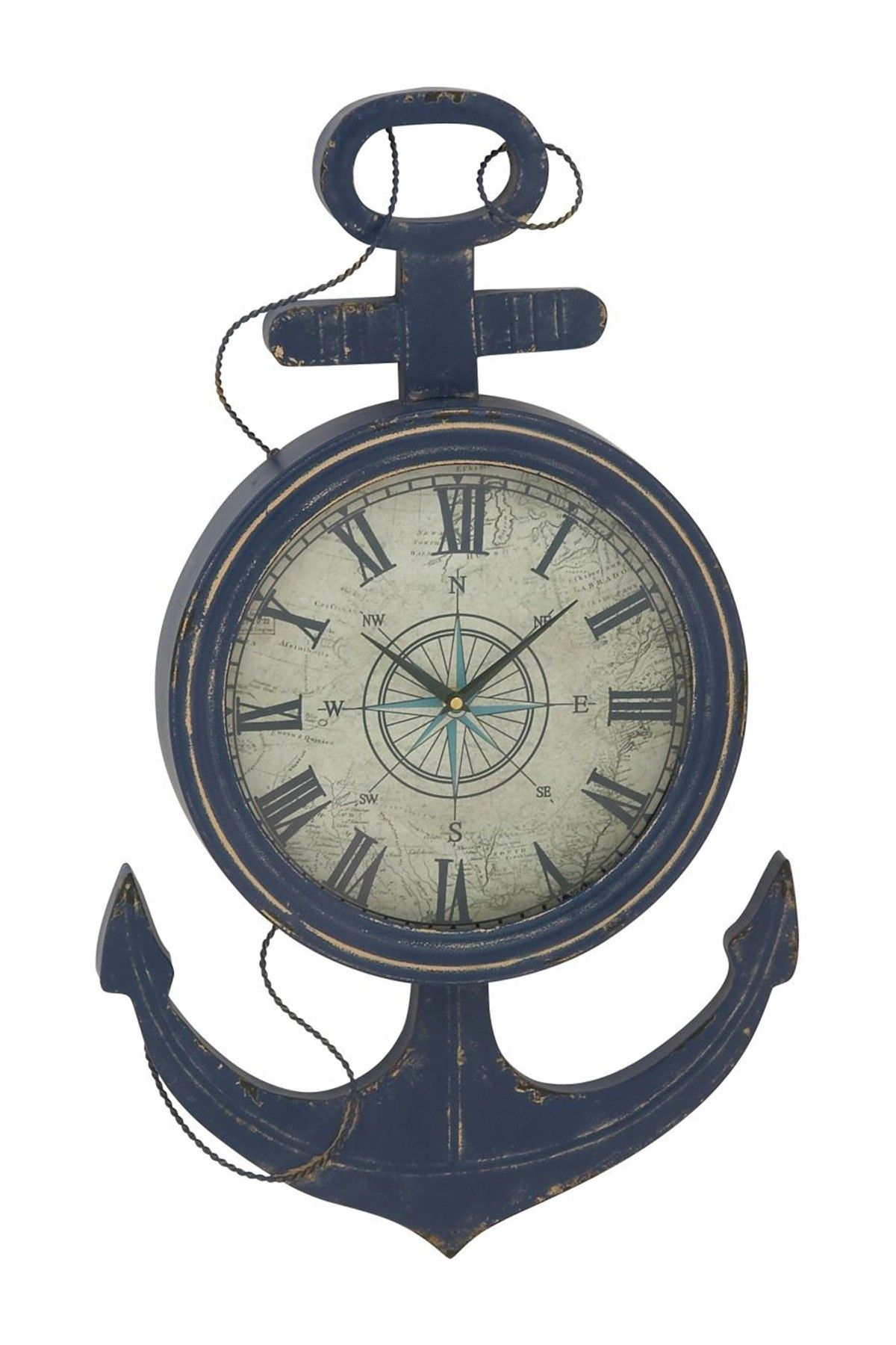Iron anchor wall clock on hautelook cape house pinterest iron anchor wall clock on hautelook amipublicfo Images