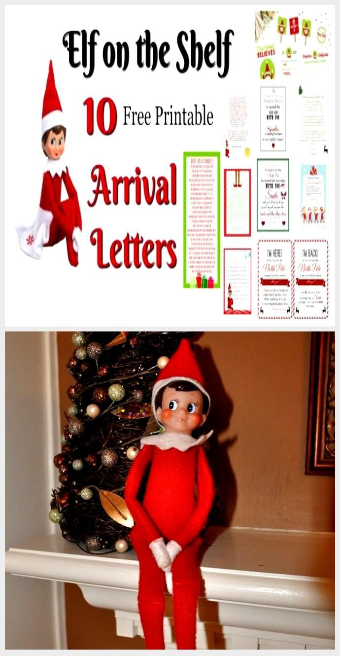 New Totally Free Elf on the Shelf Ideas for Arrival 10