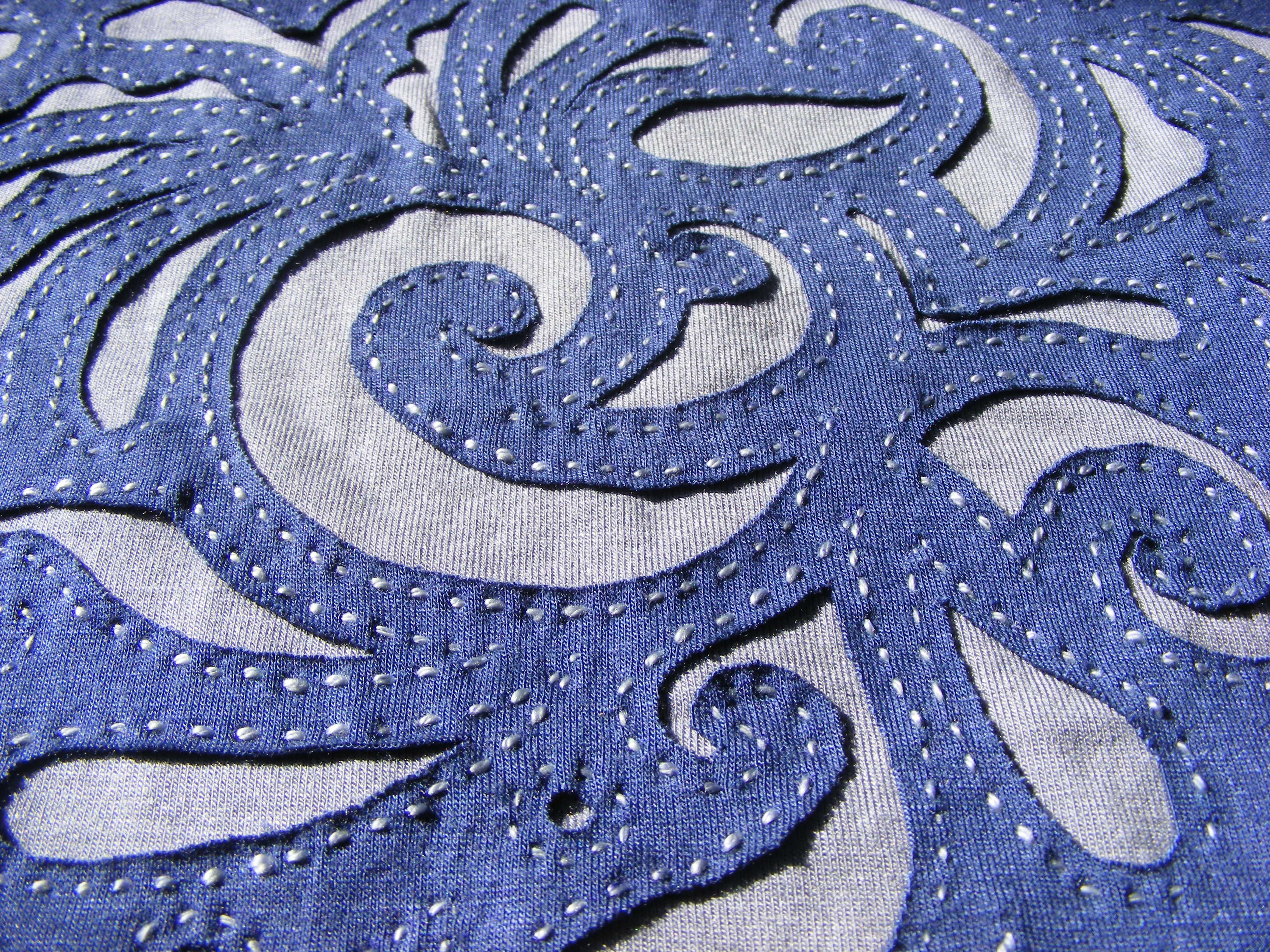 Reverse Applique Embroidery