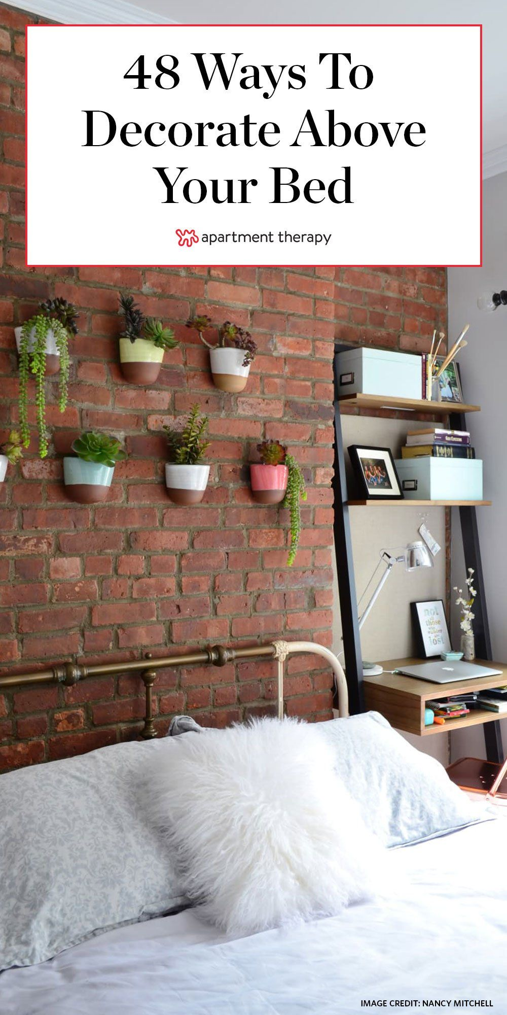 48 Decorating Ideas For That Wall Space Above Your Bed Above Bed Decor Bedroom Wall Decor Above Bed Wall Decor Bedroom