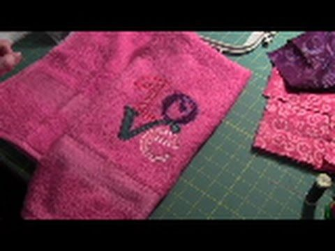 Towel - How to Machine Embroider a Towel - YouTube