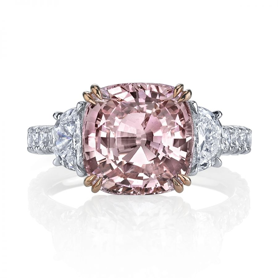 carat padparadscha sapphire stone ring the rare orangeypink