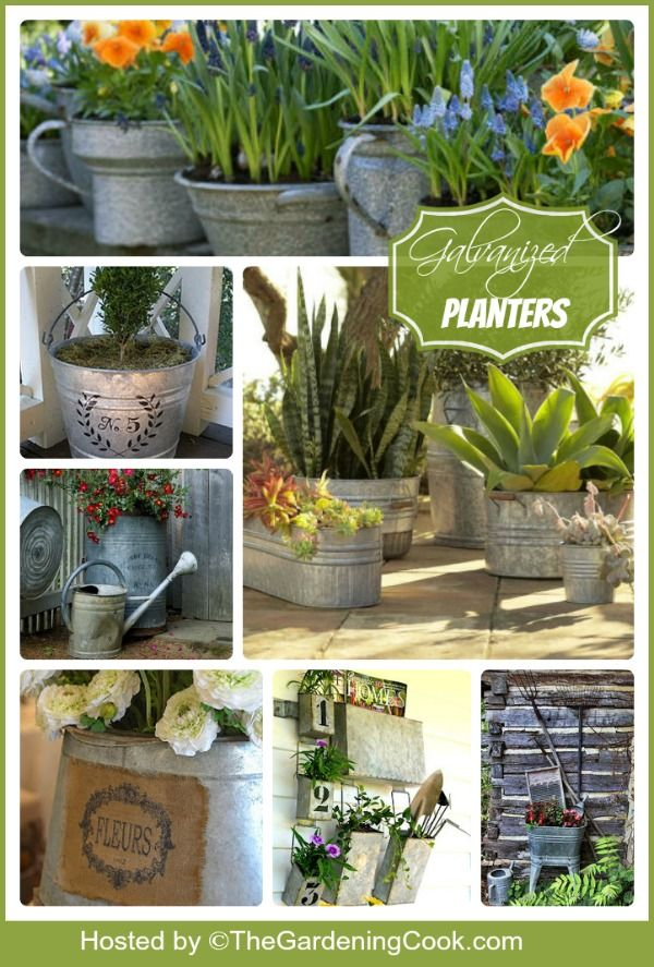 Galvanized Garden Decor - So Popular tub recycling Pinterest