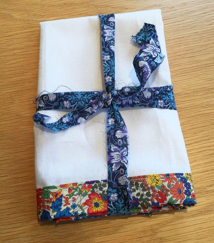 Liberty Of London Handmade Tea Towel With Margaret Annie