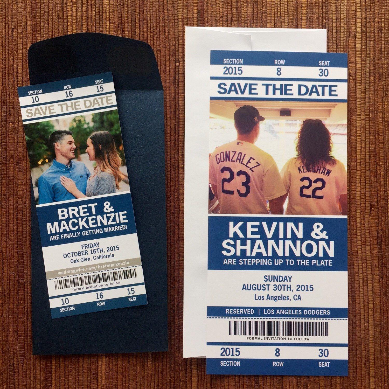 Sport Ticket Wedding Save The Date / Invitation Tickets