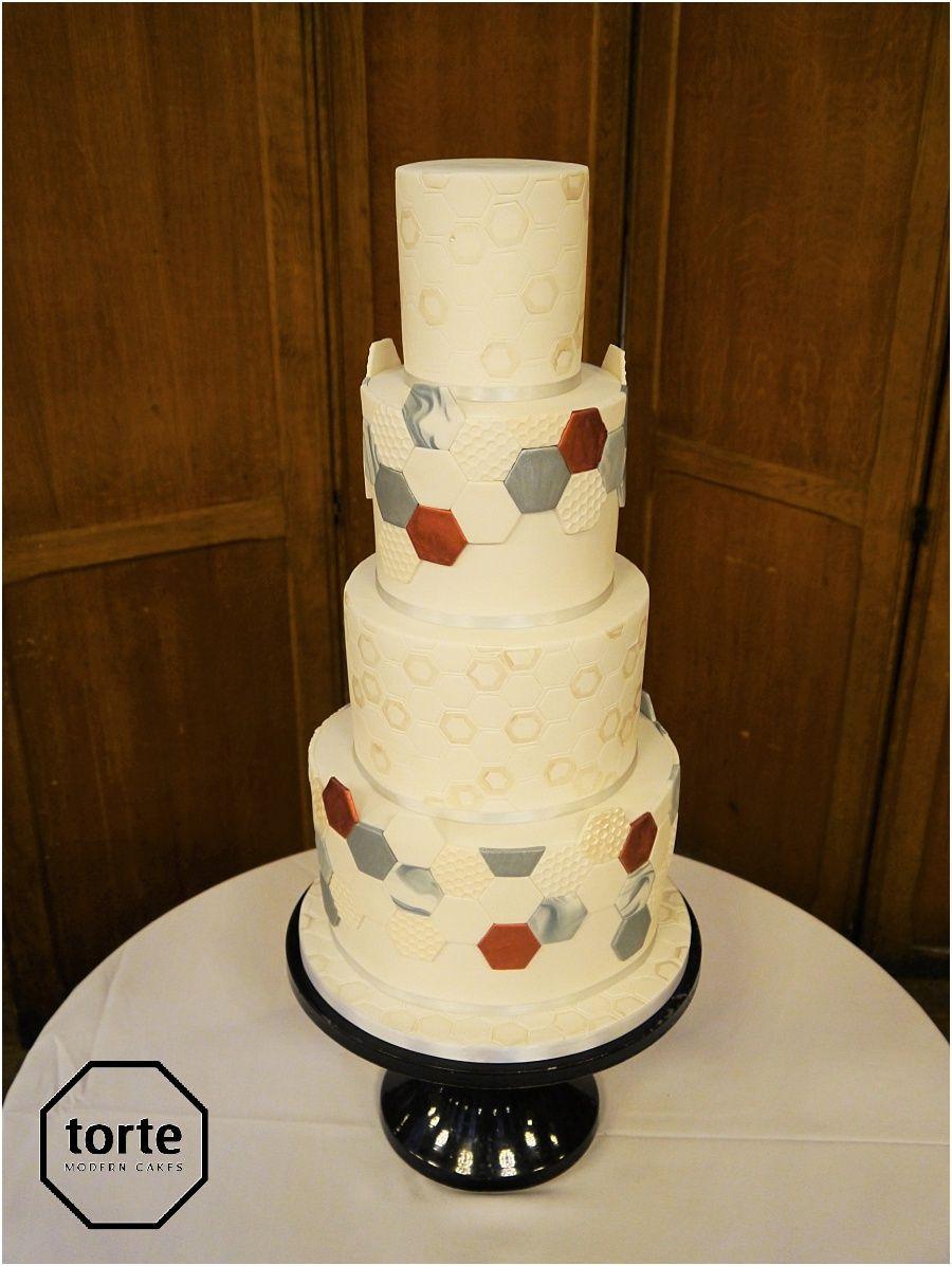 Hexagons geometric tiles wedding cake #wedding #cake ...