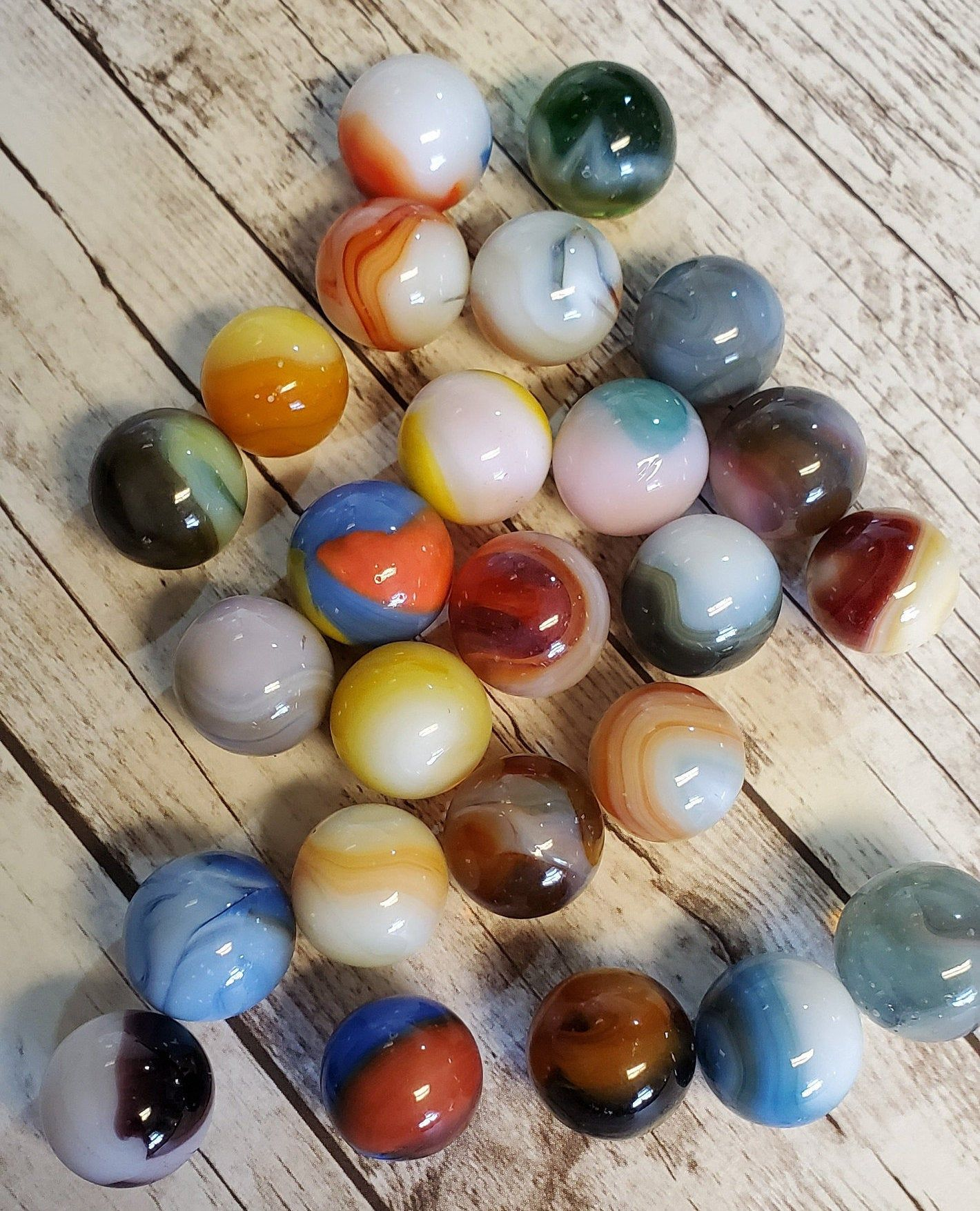 Lot Of 25 Marbles Glass Marbles Decorative Marbles Craft Marbles Toys And Games Collectible Marbles Lot 50 Marble Toys Marble Decor Glass Marbles