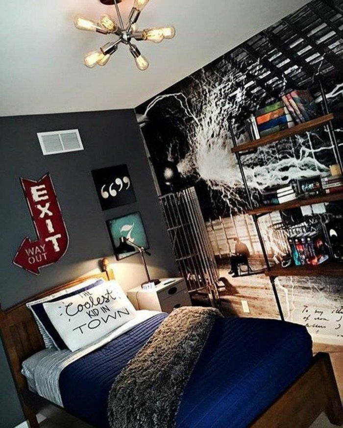 Beautiful Chambre Ado Mur Noir Gallery