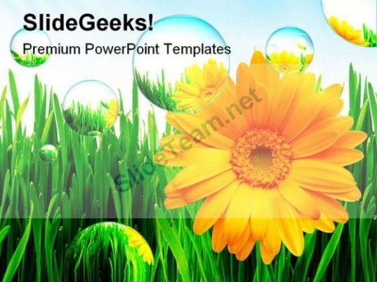 Sunflower Nature PowerPoint Template 1110 #PowerPoint #Templates ...