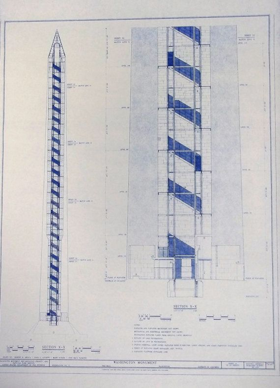 Washington monument blueprint by blueprintplace on etsy 1499 washington monument blueprint by blueprintplace on etsy 1499 malvernweather Images