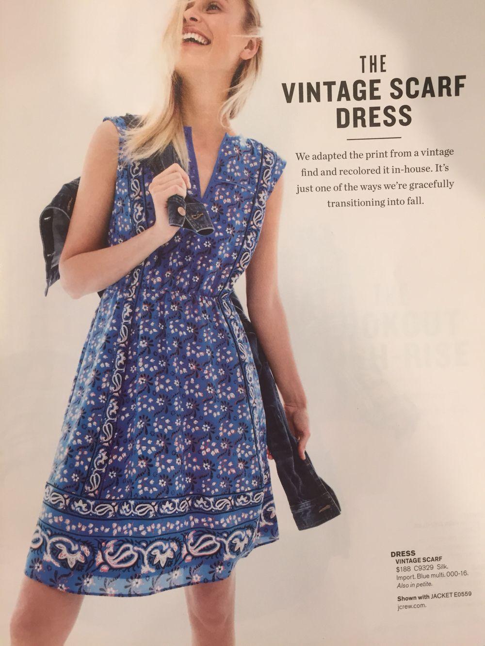 J Crew Vintage Scarf Dress