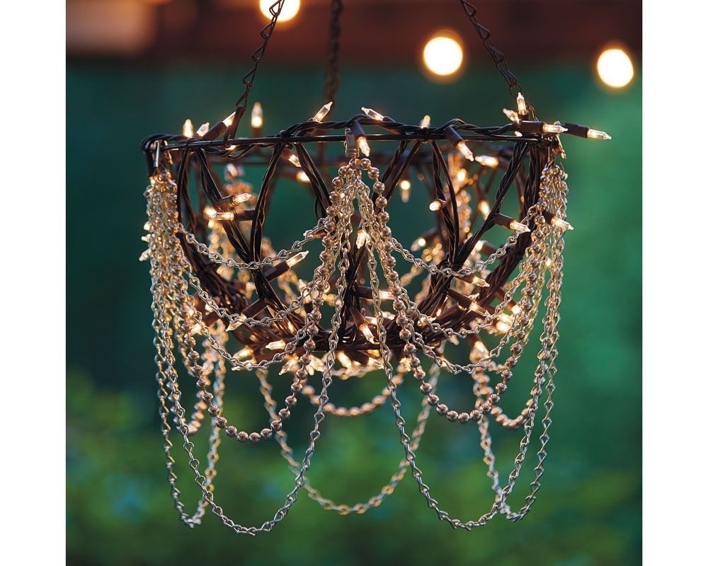 Light Up Your Backyard With These Diy Outdoor Chandeliers
