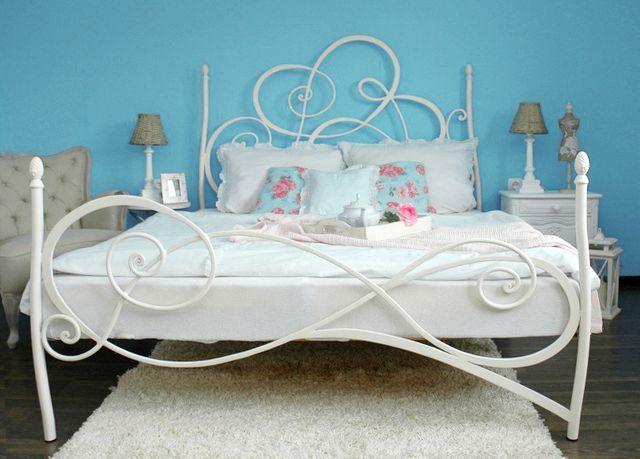 Details zu GELINDA Eisenbett Metallbett Schlafzimmer Design Bett
