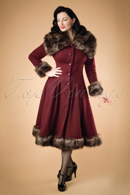 e69fb9c360c6e Collectif Clothing Pearl Coat in Wine 18892 20160602 01W