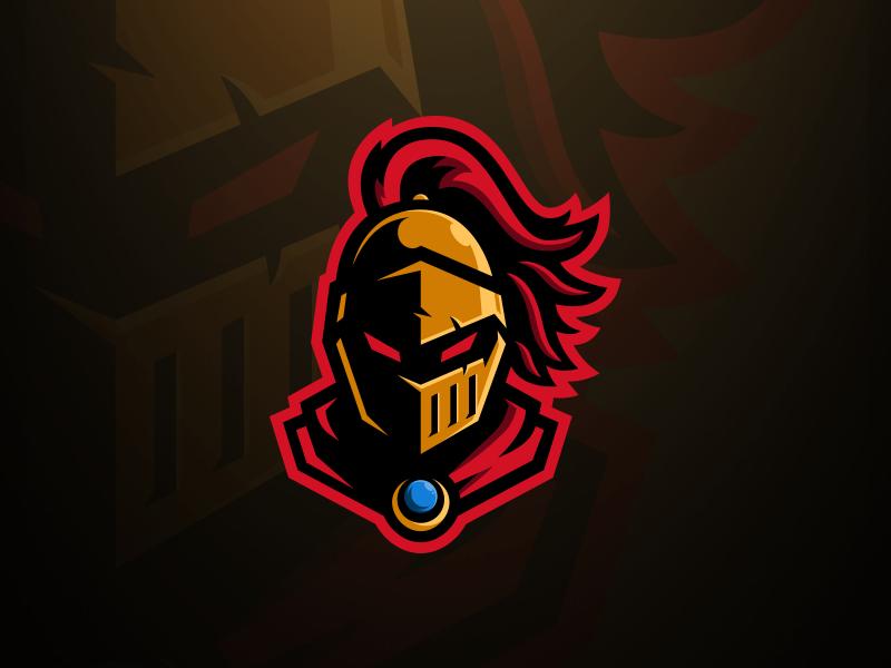 Golden Knight Mascot Logo in 2020 Team logo design, Game