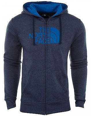 North Face Half Dome Full Zip Hoodie Mens CH2L-FXX Cosmic Bomber Blue Size 2XL