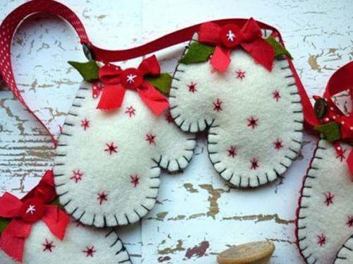 Figuras navideas de fieltro para decorar arbol de navidad04