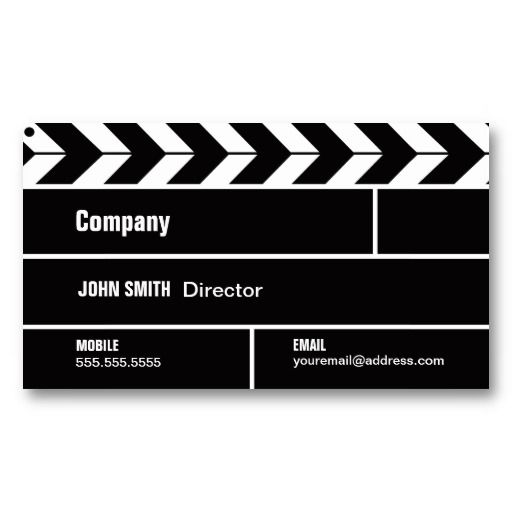 Wedding Photography Business Names: Director Clapperboard Film Movie Business Card